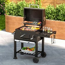 BBQ charcoal grill cart, barbecue, charcoal bbq -