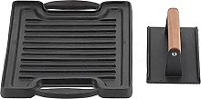 BBQ Griddle Plate, Grill Plate Tray Cast Iron