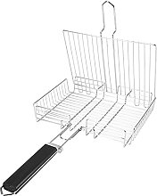 BBQ Grill Basket, Portable BBQ Net Square Grilled