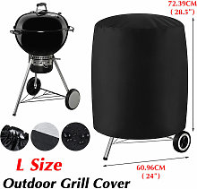 BBQ Grill Cover Round Waterproof BBQ Smoker Cover