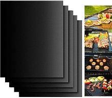 BBQ grill mat, grill mats (set of 5) for grilling