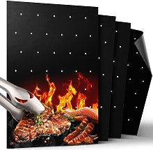 BBQ Grill Mat, Non Stick BBQ Mat with Holes Heavy