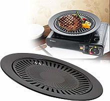 BBQ Grill Pan Rack Portable Barbeque Kitchen Metal