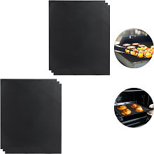 BBQ Grill Sheet Set Of 6, Non-stick Coated, Trim