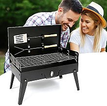 BBQ Grill, Stainless Steel Portable Folding
