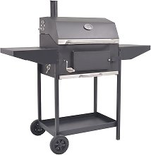 BBQ Offset Charcoal Smoker and Grill by Symple