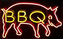 BBQ Real Glass Neon Light Sign Home Beer Bar Pub