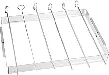 BBQ Skewer Rack Stainless Steel Folding Grill with