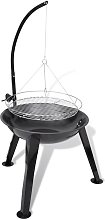 BBQ Stand Charcoal Barbecue Hang Round - Black