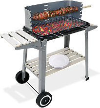 BBQ Trolley Charcoal Barbecue Grill Outdoor Patio
