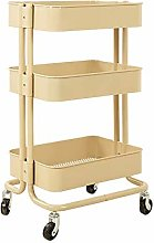 BBWYYQX Cart Tool 3 Tier Beauty Rolling Cart