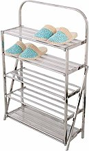 BBWYYQX Shoe Cabinet Stainless Steel Multi-Layer