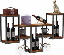 BBWYYQX Solid Wood Iron Art Suspension Red Wine