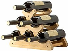 BBWYYQX Solid Wood Wine Rack Ornaments Wine Shelf