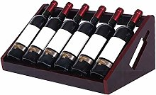 BBWYYQX Wine Rack Home Solid Wood Wine Bottle Rack