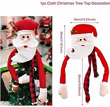BBY Christmas Snowman Red Scarf Tree Topper