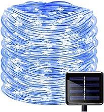 BBZZ 100 LEDs Solar Rope String Lights, Waterproof