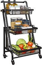 BBZZ 3-Tier Rolling Utility Cart, with Roller