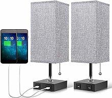 BBZZ USB Bedside Table Lamp,Table Desk Bedside