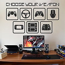 BBZZL Gamepad Vinyl Wall Stickers Game Console