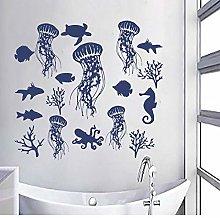 BBZZL Jellyfish-Bathroom Vinyl Wall Sticker