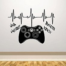 BBZZL My heartbeat vinyl decal controller game