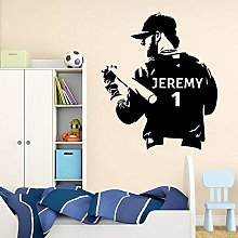 BBZZL Personalized baseball wall stickers with