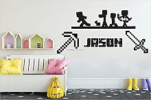 BBZZL Personalized wall sticker with mosaic sword