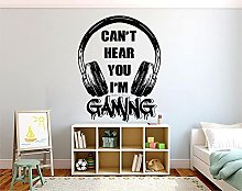 BBZZL Personalized wall stickers game headphones