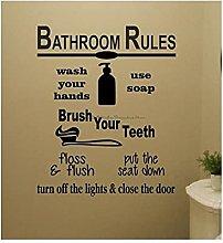 BBZZL Toilet Rules Wall Stickers Bathroom Wall