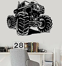 BBZZL Vinyl wall stickers monster truck decoration