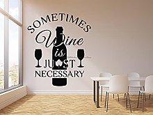 BBZZL Wine glue wall stickers personality slogan