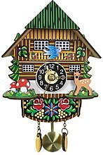 BCBKD Mini 3D Cartoon Cuckoo Clock, Modern