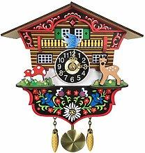 BCBKD Modern Mini Pastoral Cuckoo Clock, 3D
