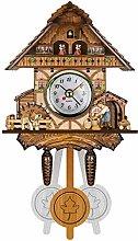 BCBKD Vintage Cuckoo Clock Wooden Traditional