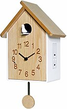 BCBKD Wooden Cuckoo Clock, Modern Quartz Battery