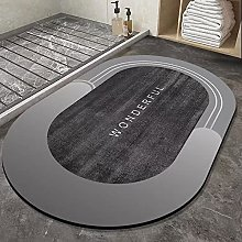 BCDALN Area Rugs Bathroom Diatom Mud Soft Floor