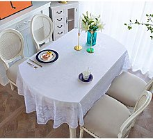 BCL Oval Plastic Tablecloth Vinyl Oilcloth