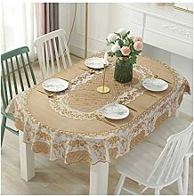 BCL Vinyl Oval Tablecloth Cover Mat American