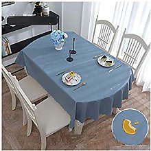 BCL Vinyl Tablecloth, Oval PVC Waterproof Table