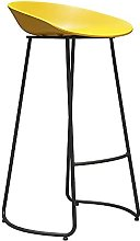 BCLGCF Bar Stools with Back And Footrest, Simple