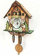 BCLGCF Cuckoo Clock Traditional Forest Wood Clock