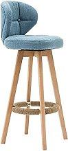 BCLGCF Modern Minimalist Bar Chair, Cotton Linen