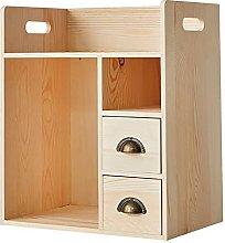 BCLGCF Solid Wood Office Desk Storage Rack,