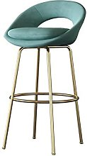 BCLGCF Velvet Comfortable And Soft Bar Chair with