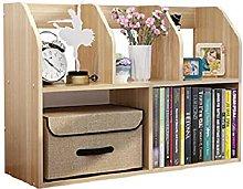 BCLGCF Wood Desktop Bookshelf, Desktop Organizer