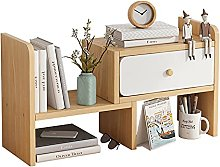 BCLGCF Wood Small Desk Shelves, Adjustable Office