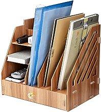 BCLGCF Wooden Desk Organizer Storage