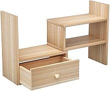 BCLGCF Wooden Desk Storage Organizer with 1