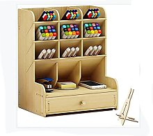 BCLGCF Wooden Desk Tidy Organiser with Drawer,